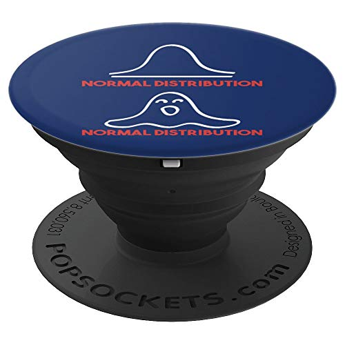 Funny Halloween Math Teacher Statistics Normal Distribution PopSockets Grip and Stand for Phones and Tablets ()