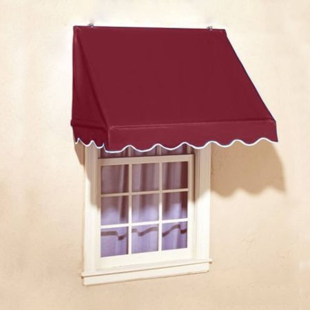 ALEKO 6 X 2 Burgundy Window Awning Door Canopy 6-Foot Decorator Awning, Burgundy (Awning 6 Ft)