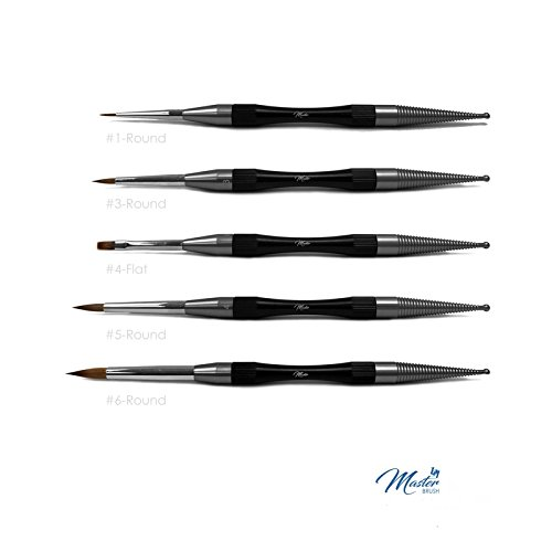 5 Pieces Natural Master Brushes for Dental Lab Porcelain by masterbrush