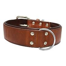 "Angel Pet Supplies 11015 Genuine Dog Collar. 26"" X 2"", Brown. Western Padded 100-Percent Argentinean cowhide. Elite (DALLAS) Necks: 20""-24"""