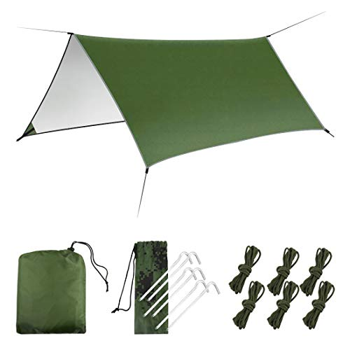 LAMA Hangmat Regen Fly Tent Tarp, [3m x 3m] Hangmat Tent Tarp Waterdicht Winddicht Sneeuwdicht Camping Shelter Draagbare…