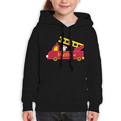 Price comparison product image Vintopia Teen Fire Truck Funny Climbing Black Hoodies M