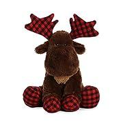 Aurora World Moose Lumberjack Plush, Brown, 14