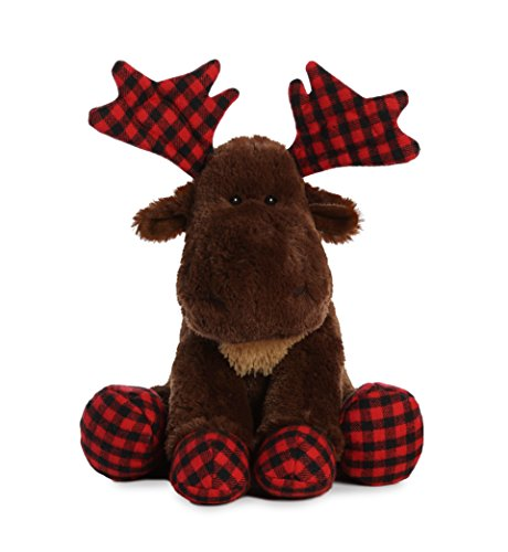 - Aurora World Moose Lumberjack Plush, Brown