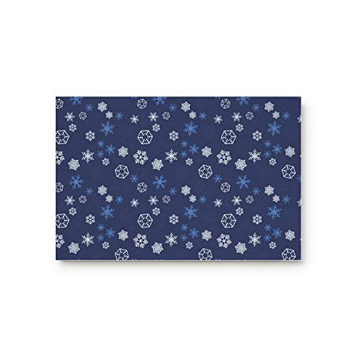 Life808 Office Floor Mats Front Doormats Non-Slip Bedroom Home Kitchen Rug, Christmas Snowflake Xmas Holiday Winter Wonderland Christmas Decorations Ornaments 18 by 30-Inch]()