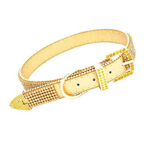 Vanderpump Pets The Giggy 2015 Commemorative Gold Dog Collar, (Pet Jewelry Beverly Hills)