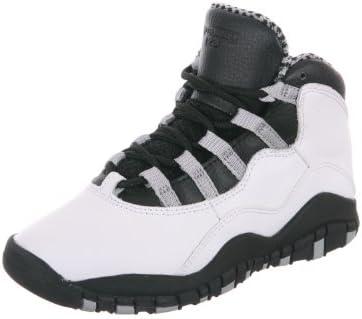 new product 40c12 fea28 Nike Jordan 10 Retro PS Pre-School Kids Basketball Shoes 310807-103 White  Black-Light Steel Grey-Varsity Red 3 M US  Amazon.in  Shoes   Handbags