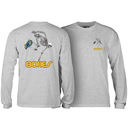 Powell-Peralta Skateboard Long Sleeve Shirt Skateboard Skeleton Grey Size XL
