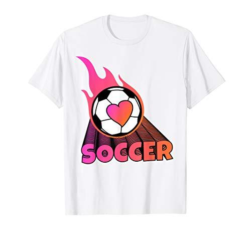 Cute Flaming Pink Soccer Ball - T-shirt Ball Soccer Flaming