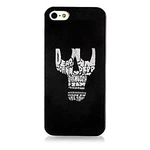 QJM Skull Head Pattern Silicone Soft Case for iPhone4/4S