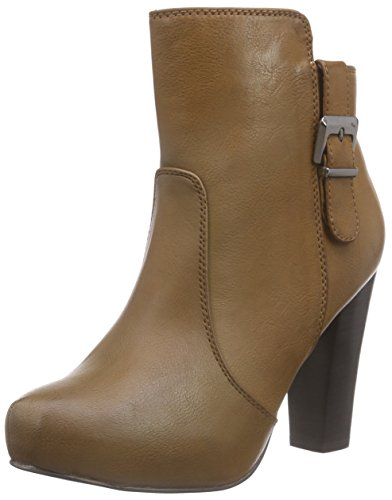 Buffalo Y428d-417 P2075c Leather PU Damen Kurzschaft Stiefel Braun (Brown 81)
