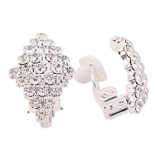 New Rhinestone Clip Earrings Fashion Jewelry No Ear Hole Earrings Fashion Jewelry Gift