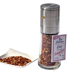 direct&friendly Bio-Chilibar - Bio Chili mittelscharf, geschrotet 30g - Mühle...