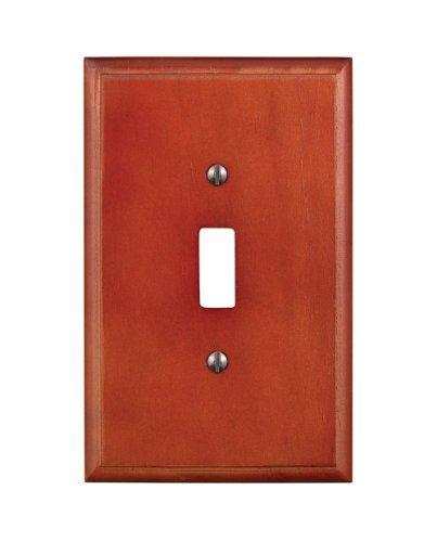 Leviton 89201-CHR 1-Gang Toggle Switch Wallplate, Cherry - Cherry Wood Wall