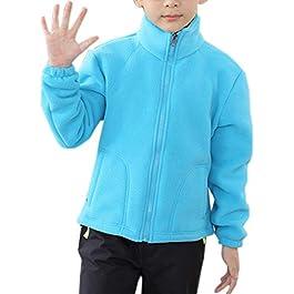 Elonglin Womens Mens Fleece Jacket Full Zip Stand Collar Sportwear Top Outwear
