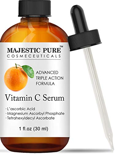 - Vitamin C Serum for Face with L-ascorbic Acid - Age Defying Skin Brightening Facial Serum for Face Under Eye and Neck Areas - 1 fl. oz.