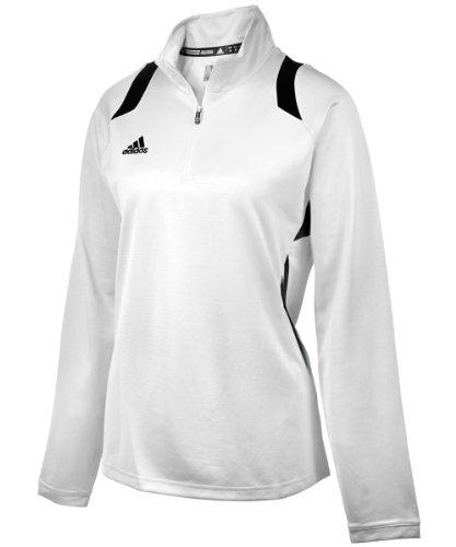 - adidas Women's Game Day 1/4 Zip - White/Black - X-Large