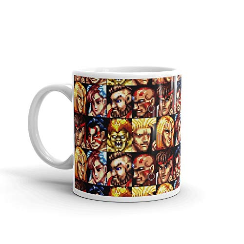 rangerpolocon Street Fighter Retro Character List 11Oz Ceramic Coffee Mugs Cup Tea Hefty But Classic Feel