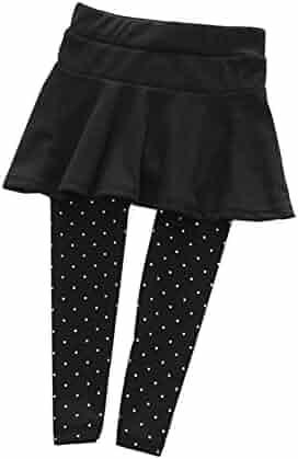 1e19dfc4d Weixinbuy Kid Baby Girl Wool Polka Dot Culotte Legging Trousers Pantskirt