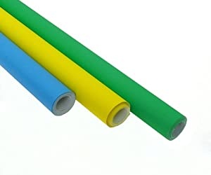 Poster Paper Assortment - Blue, Green and Yellow - 3 Rolls ...