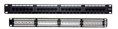 (Cables Guru [UL Listed] Cat5e RJ45 24 Port 1U Patch Panel)