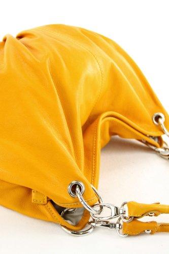 Borsa a Italy Gelb Made donna spalla qvS0xF