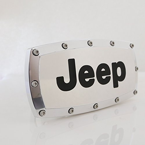 (Elite CarBeyondStore Jeep Engraved Billet Aluminum Tow Hitch Cover)