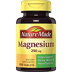 Nature Made Magnesium 250 mg Tablets, 10...