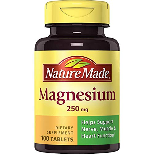 - Nature Made Magnesium 250 mg Tablets, 100 Count for Nutrition Support (Packaging May Vary)