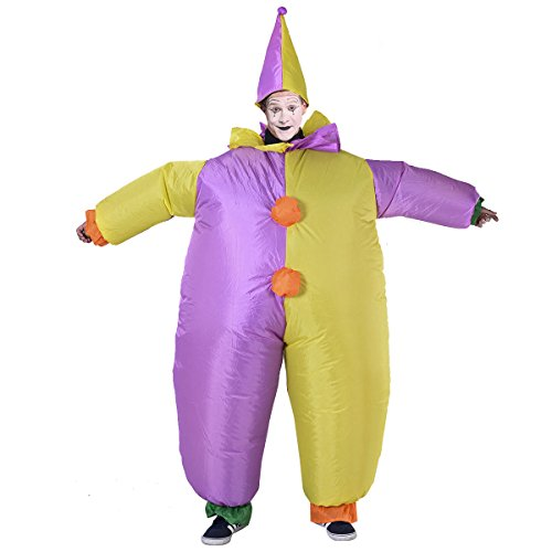 Fancy Dress Horse Clown Unisex Costumes Waterproof Inflatable Motor (Blow Pop Adult Costume)