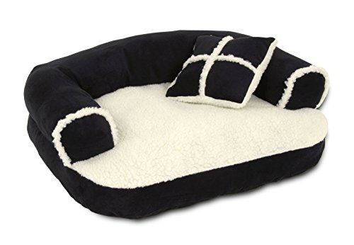 ASPEN PET 20 X 16 SOFA BED WITH PILLOW (Colors may vary) (Bed For Small Pet)