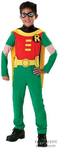 [Kid's Robin Teen Titan Costume (Size:Medium 8-10)] (Teen Titan Robin Costumes)