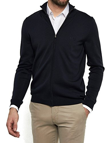 Hugo+Boss+Men%27s+Full+Zip+Sweater+%28L%2C+BLACK%29