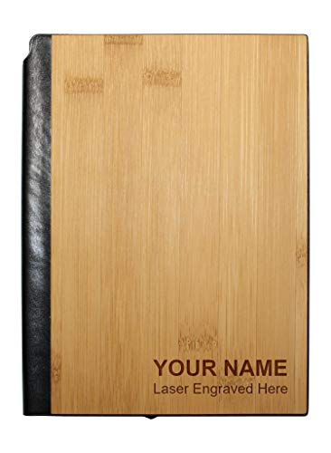 Personalized Real Wood Journal/Planner with 160 Lined Pages, - Journal Bamboo