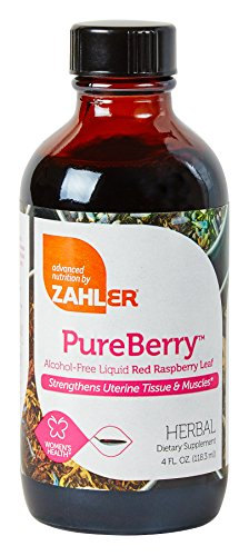 Zahler PureBerry, Liquid RED RASPBERRY LEAF Supplement which Strengthens Uterine Tissue and Muscles, All Natural LIQUID Formula that Promotes Uterine Health, Certified Kosher, 4oz