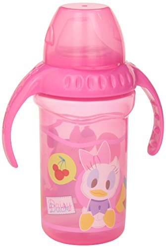 Nuby Two Handle Flip N Sip Straw Cup 8 Ounce Pink With