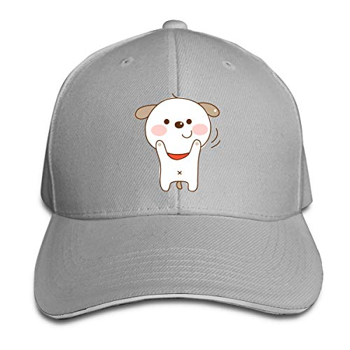 FOOOKL Cartoon Dog Cap Unisex Low Profile Cotton Hat Baseball Caps Gray