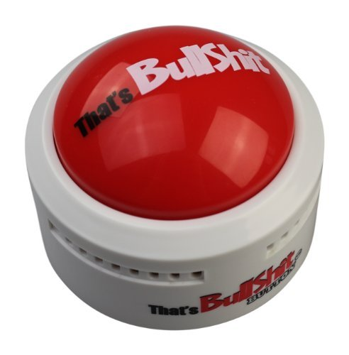 (Talkie Toys Products That's Bullshit Button,Talking Button Features Funny BS)