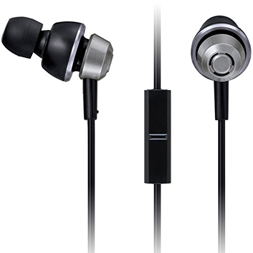 (Panasonic drops360° Premium In-Ear Stereo Headphones with Mic + Controller RP-HJX6M-S (Metallic Silver) with Travel Pouch, Powerful)