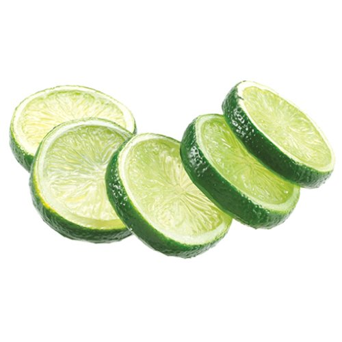 2'' Artificial Bagged Lime Slices -Green (pack of 24) by SilksAreForever