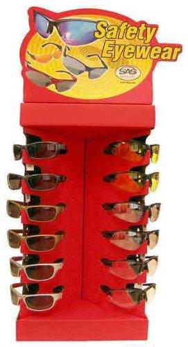 SAS Safety 5200-43 DB2/GTR Combo Eyewear Cardboard Display