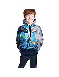 Rebrseecca Mo Kid's/Youth Hoodies How to Tra-in Your Dra-gon Unisex 3D Print Plus Velvet Hooded Sweatshirts