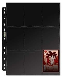 Asmodee 82826 - Juego de 10 forros A4 para cromos, color negro