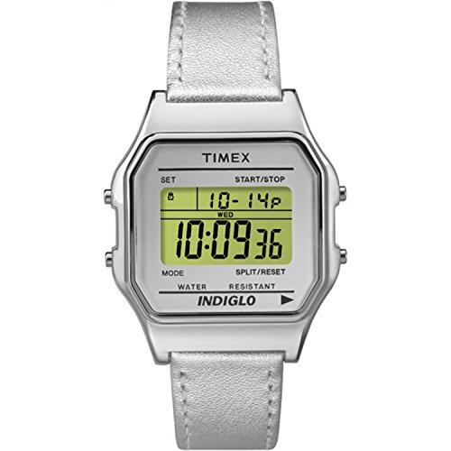 Timex Unisex TW2P76800AB Heritage Collection Digital Display Quartz Silver Watch