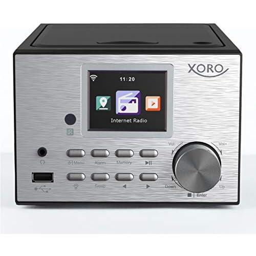 chollos oferta descuentos barato Xoro HMT 500 Micro Sistema de Radio por Internet Dab FM Reproductor de CD Bluetooth Reproductor Multimedia Pantalla a Color de 2 4 Pulgadas RC 2 x 10 W