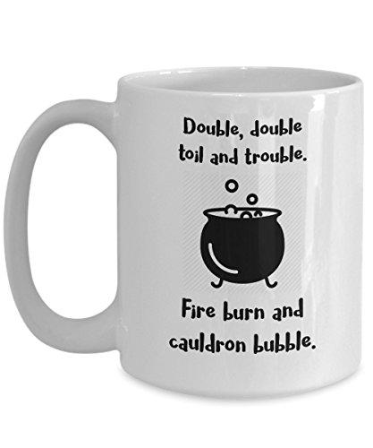 Funny Halloween Mug - Halloween Poems - 15oz White Ceramic Coffee Tea Cup