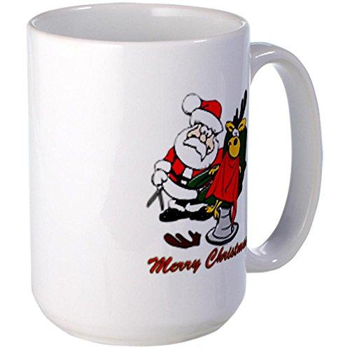 CafePress Coffee Cup Christmas Hairdresser Large Mug Large Mug -