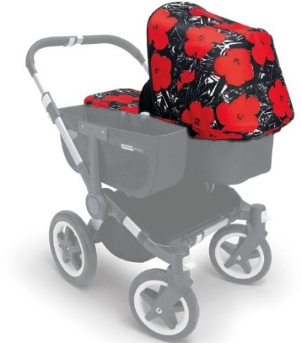 Bugaboo Donkey Tailored Fabric Set - Andy Warhol Flowers (Discontinued by Manufacturer)