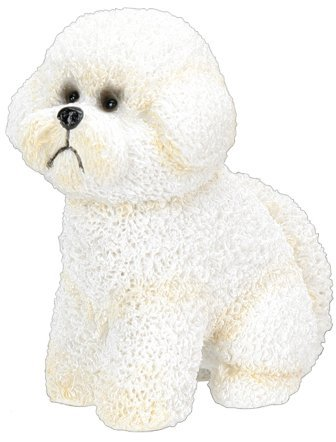 Bichon Frise Dog - Collectible Figurine Statue Figure Sculpture Puppy