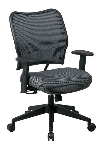 (Space Mid-Back Veraflex Deluxe Office Chair with Adjustable Arms Finish: Charcoal)